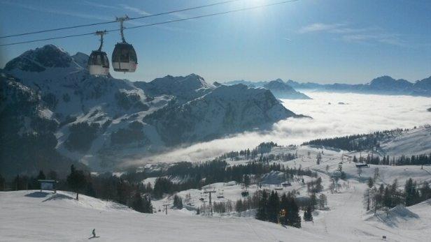 Nassfeld Hermagor - Top Pisten vom 26.03.-02.04.2016 Der Schnee wurde halt ab dem Mittag sehr wässrig, durch die Temperatur. Das Skigebiet ist Top. - © sebi171096