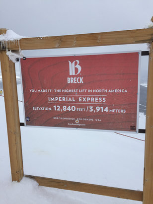 Breckenridge - Flew out for day trip. Lots of snow, blizzard conditions top of imperial at 1 pm.glad I went, shame they are closing - ©iPhone