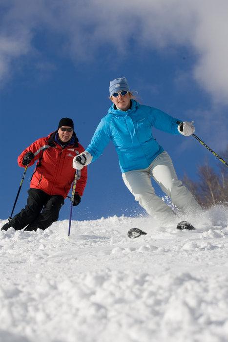 Skiers at Cranmore, NH
