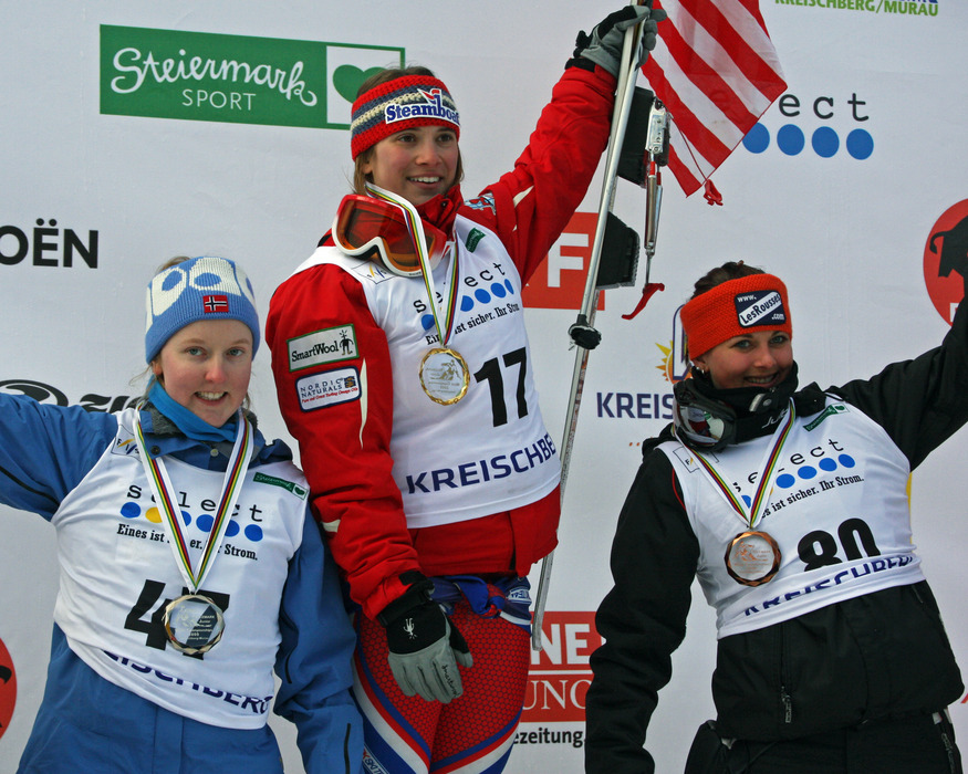 Junior World Championship podium winners at Steamboat, CO. Photo by Lorin Paley.
