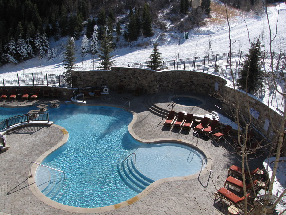 Pool area of St Regis Hotel, Deer Valley, Utah
