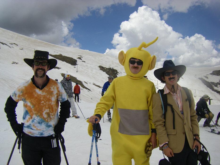 Pondskimmers in costume at Arapahoe Basin