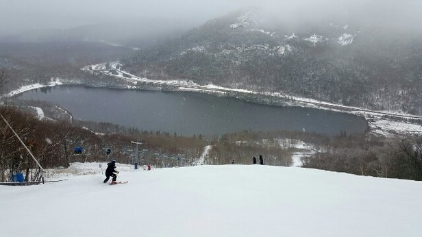 Cannon Mountain - Decent ski conditions overall, no lift lines which is fantastic - © drjahnke