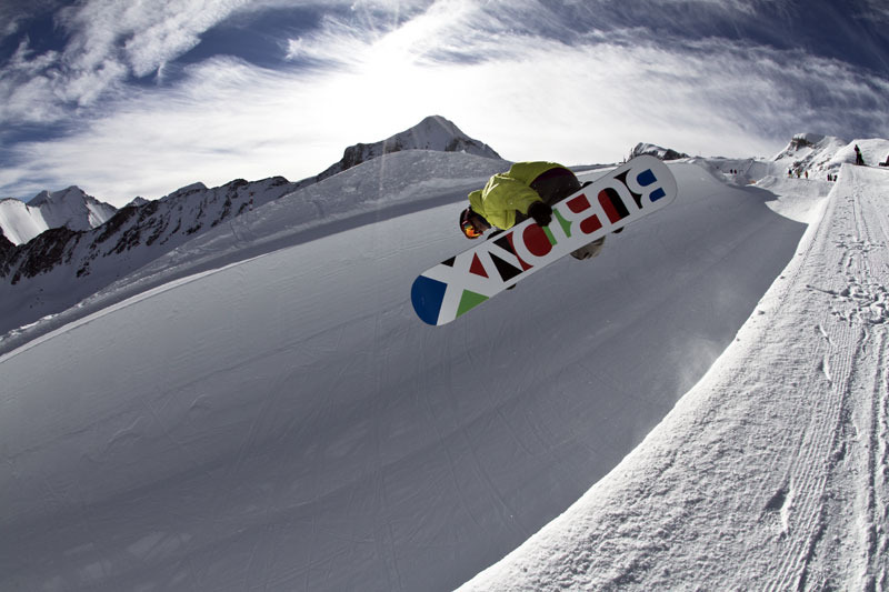 Christian Bach im Snowpark Kitzsteinhorn