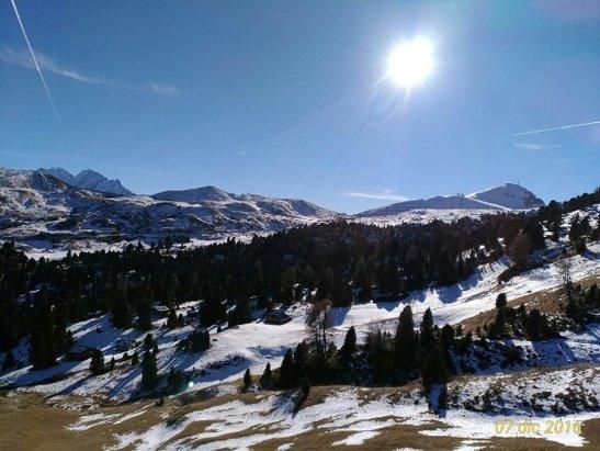 Val Gardena - Selva - Ortisei - Santa Cristina - Solo neve artificiale,  ma piste molto belle - © Stefano