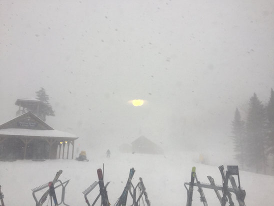 Bretton Woods - Real snow today!  - © lisa's iphone
