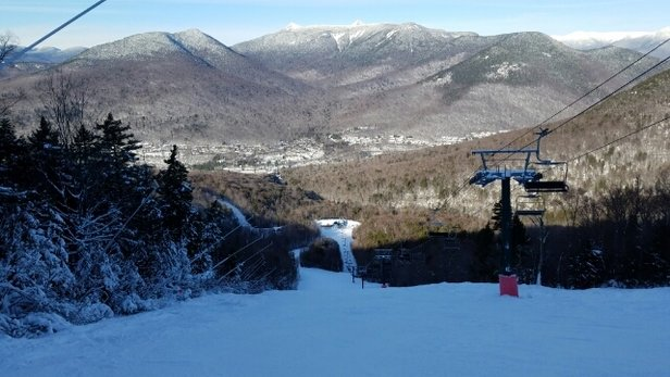 Loon Mountain - posting photo... - © Max Pass skier Lyn from