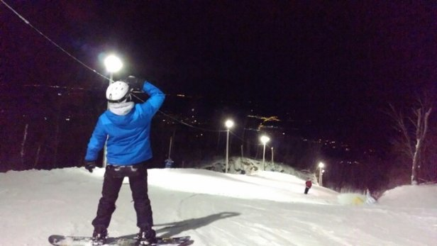Ski Bromont - love the night sking time - © TaiwanIsAwesome