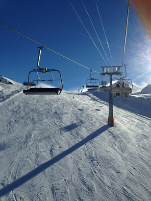 Saas Fee - December 24: impeccable! - ©Dino's iPad