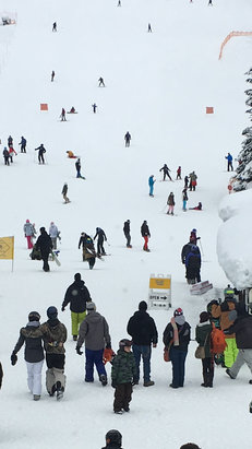 Mt. Hood Ski Bowl - Awesome day good snow fast not too busy! Perfect way to spend the day - © Bens iPhone