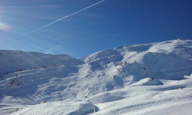 Puy Saint Vincent - temps super de la neige de canon mais de quoi se faire plaisir  - © morgan