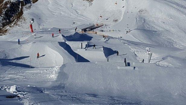 Silvretta Montafon - Klasse Wetter und der Snowpark ist offen. Super Arbeit vom Pistenteam.  - © dificht
