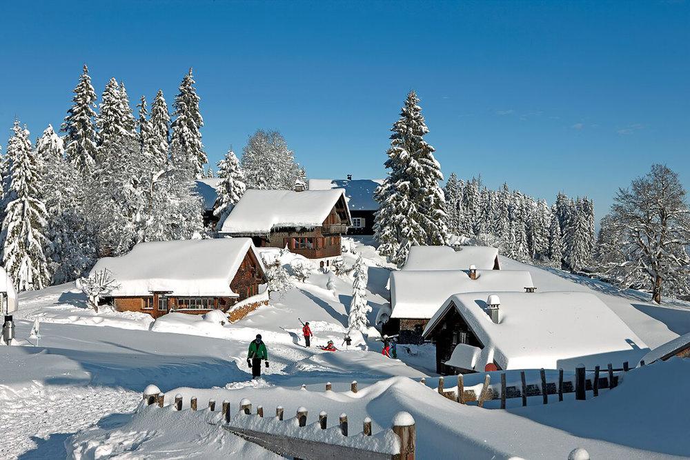 Das Skigebiet Schwarzenberg-Bödele befindet sich in deiner wunderbaren Winterlandschaft - © Schwarzenberg Tourismus