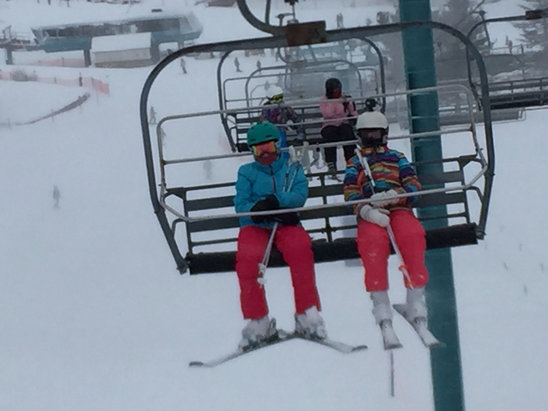 Holiday Valley - The hill made quite a comeback after that rain. Lots of fun on the hills, glades and bumps - ©H & H sisters