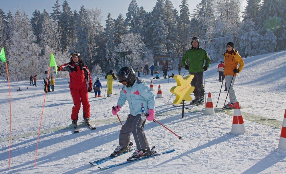 Skikurs im Skigebiet Hohenbogen - © Hohenbogenbahn