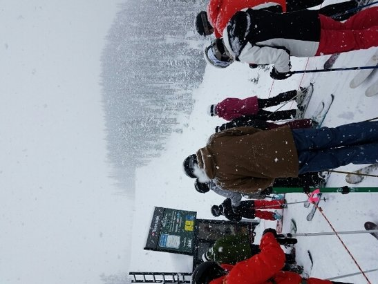 Winter Park Resort - the snow didn't stop dumping at Mary Jane all day from first chair to close! low visibility but Panoramic express opened after noon and there was more powder with every run today. skiing the trees were heavenly! fat flakes continued to pile up on everyone and everything today and I hope it continues up there this week. - © Hauser
