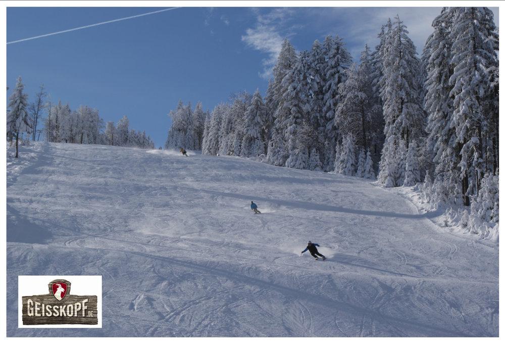 Die Nordhangabfahrt im Skigebiet Geisskopf - © Skigebiet Geisskopf