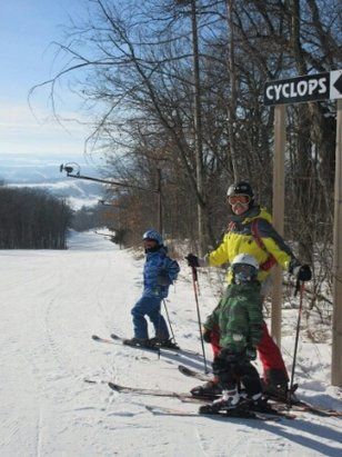 Devils Head - Skied Saturday and Sunday 1/15. temps in the 20s and only a few icy patches.  Midwest skiing conditions.  kids loved it. I realized I skied here 24 years ago and not much has been updated but still functional. - © Fall-line