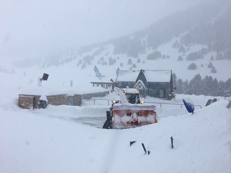 Big snowfalls in Grandvalira, Andorra 16.1.17 - © Grandvalira/Facebook
