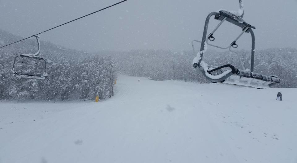 Campo Felice - Neve fresca del 03.01.17 - © Campo Felice Ski Facebook