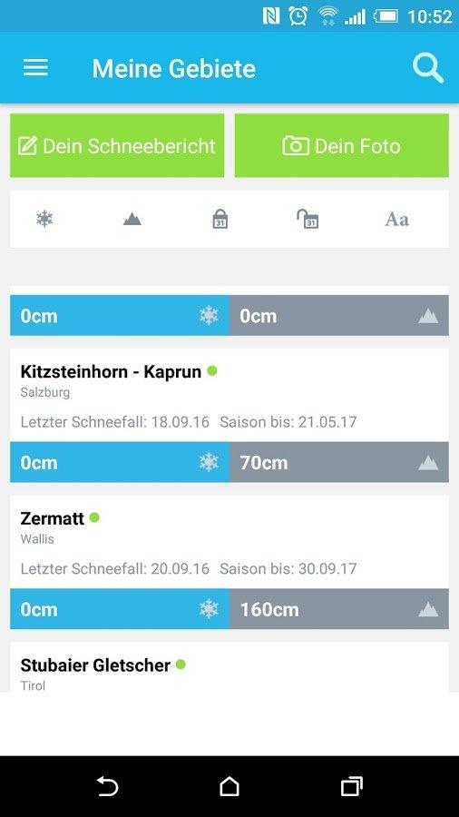 Skiinfo Ski & Schneehöhen App - © Skiinfo