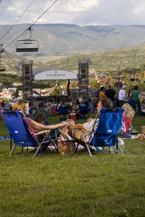 Letní koncert ve Snowmass, stát Colorado