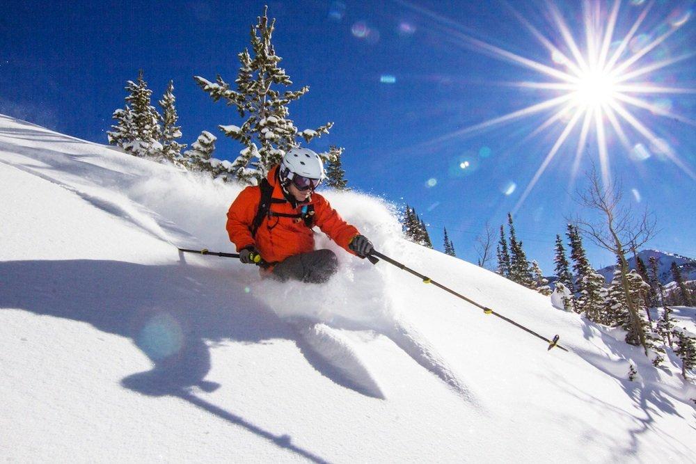Smile buddy, you're skiing Solitude powder on a bluebird day. - © Solitude