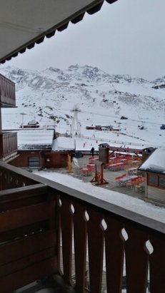 Val Thorens - just arrived. doesn't look too bad from down here bit patchy off piste  - ©george