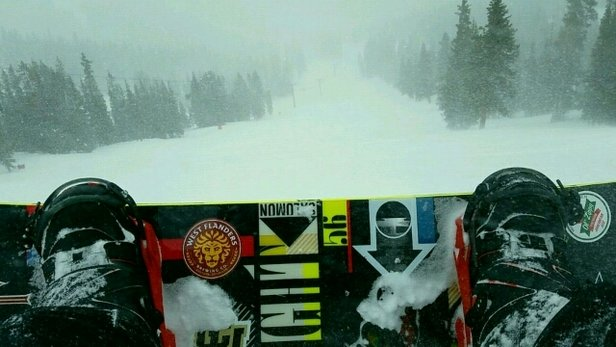 Loveland - It dumped all day today! great riding minus the crazy wind. - © J Lane