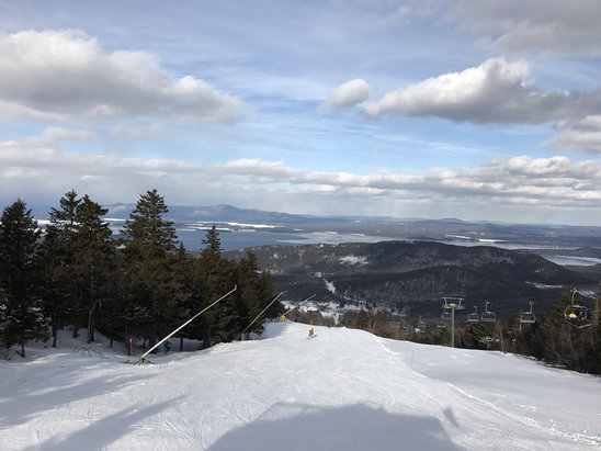 Gunstock - Great day today! Lots of open terrain, everything very nicely groomed, very light  crowds. 2-for-1 tickets with our Flex Pass( (free  - © MciPhone