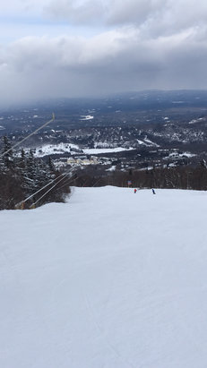 Stratton Mountain - Very good conditions on Friday 2/3/17. Nice trails.  - © Kathy Lenard's iPhone