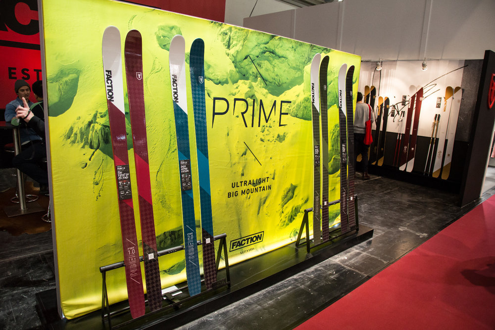 ISPO 2017 : Sur le stand Faction - ©Skiinfo