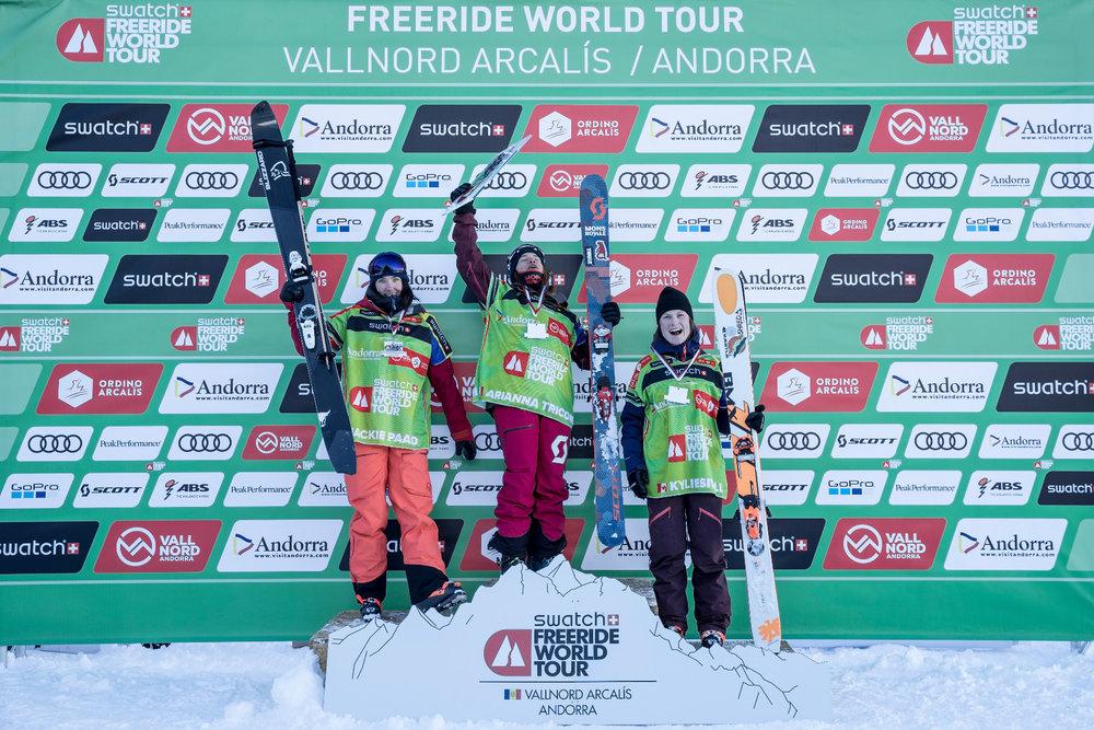 Siegerehrung Ski Damen - ©Freride World Tour_D. Daher