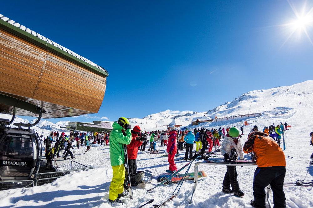 Conditions idéale (soleil et neige fraîche) pour une journée de ski à Baqueira Beret... - © Station de Baqueira Beret