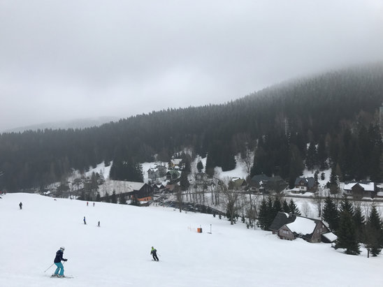 Harrachov - Not bad. Little soft but skiable.  - © chris's iPhone