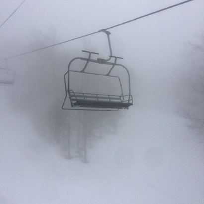 Gore Mountain - Classic sloppy day! Slush, hardpack, ice. And even still a bit of soft spring snow. Had a blast! Not sure what tomorrow will look like with this rain. - © imaginarium
