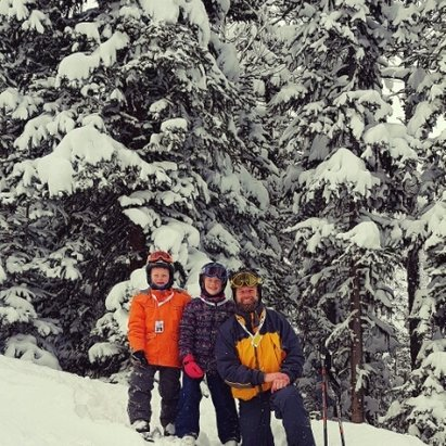 Nakiska Ski Area - It was the first time in the glades with the kids. epic day on great snow!! - © anonymous