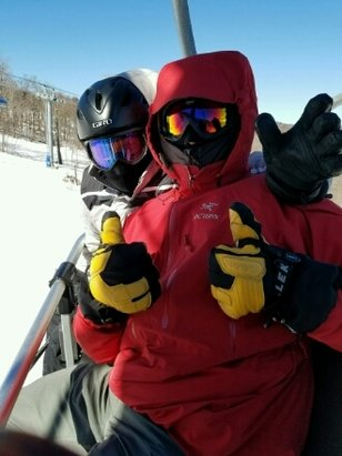 Mount Snow - Outpost and Challenger  were the best considering -21 windchill. - ©Labrat