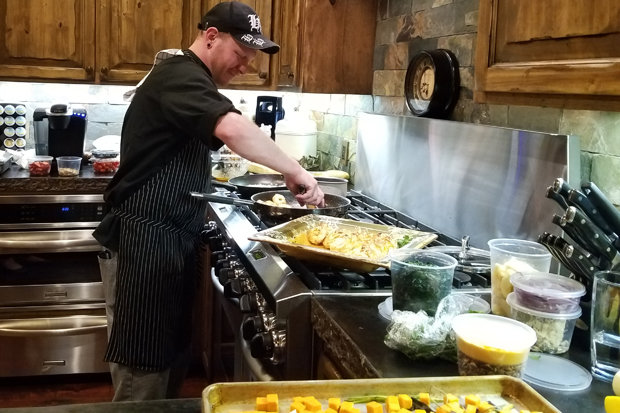 Moving Mountains' Chef Ron in action. - ©Heather B. Fried