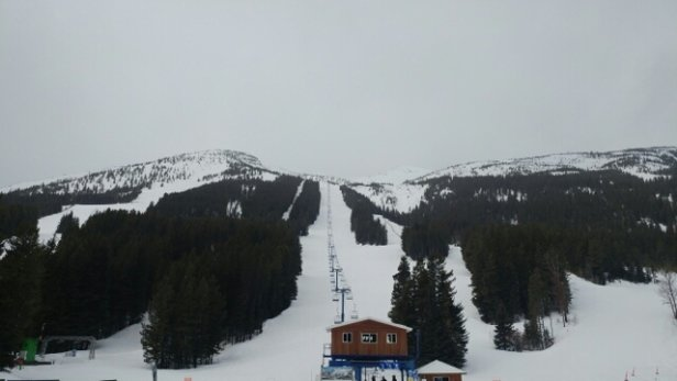 Castle Mountain - very wet snow and raining top is closed due too high winds didnt skied !! spring condition missed last week powder dump ..:((( - © anonymous