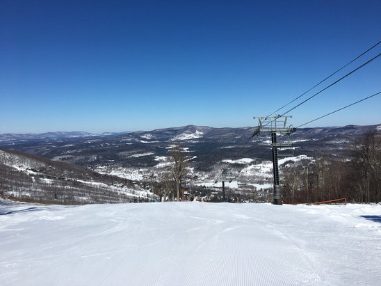 Windham Mountain - Great conditions! Blue Bird Day