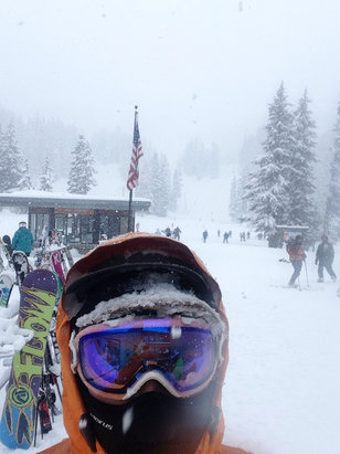 "Mt. Hood Meadows - Sunday was amazing. 11"" (?) fell throughout day.