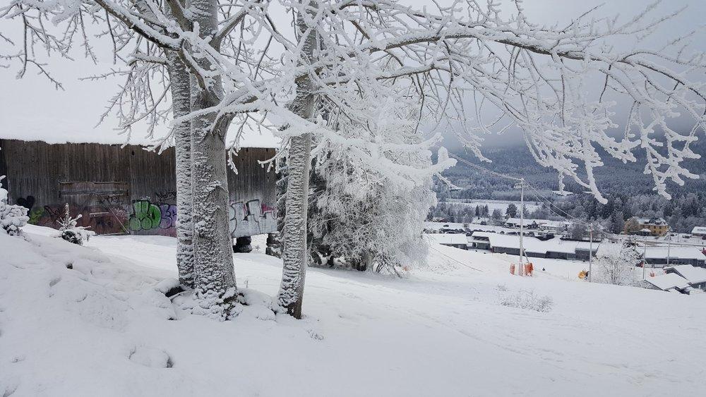 Det er godt med snø og gode forhold i Hafjell Alpinsenter om dagen. Alle bakker og heiser er åpne, og i tillegg produseres det ekstra snø i forbindelse med X Games som skal gå av stabelen i Hafjell 8-11 mars. Her fra 27. januar. - © Hafjell Alpinsenter