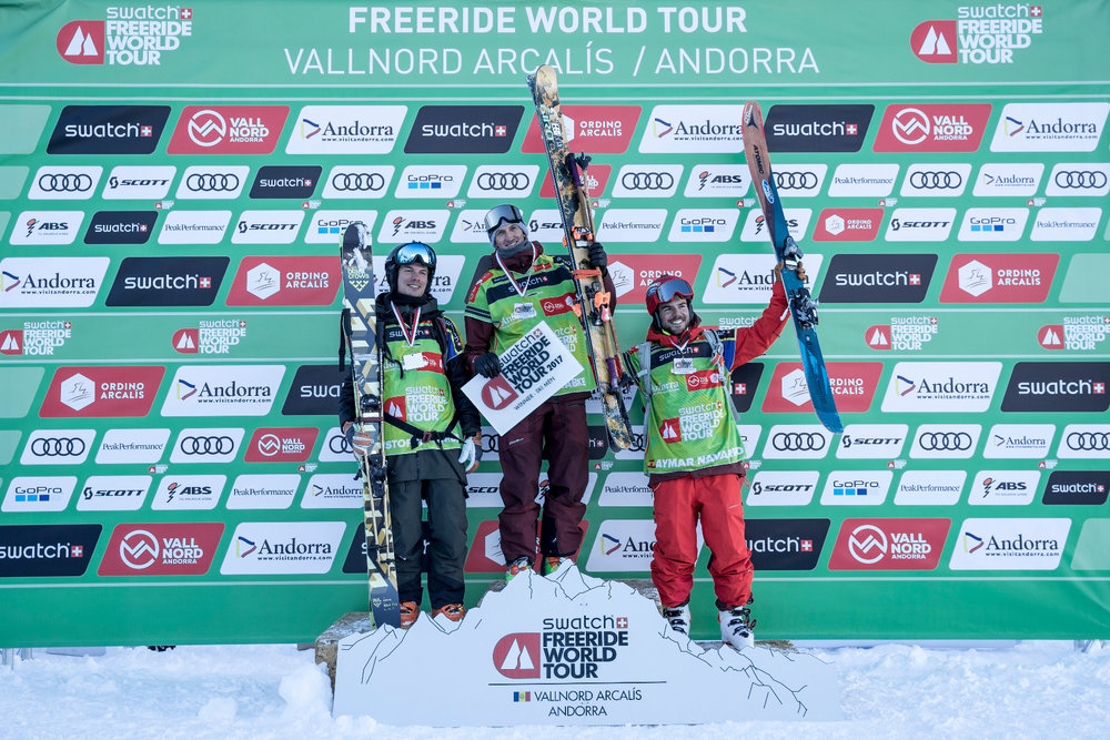 Seierspallen for ski herrer - © Freride World Tour_D. Daher
