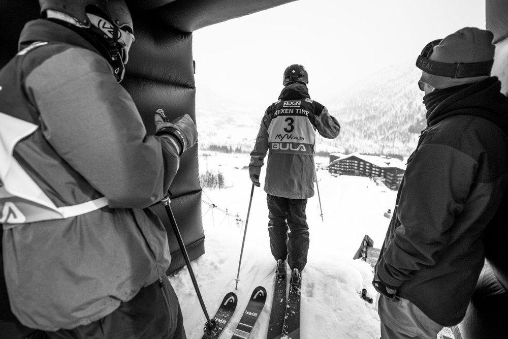 World Cup i Big Air i Myrkdalen 2017: Fra trening onsdag 22. mars. - © Sverre F Hjørnevik/Myrkdalen