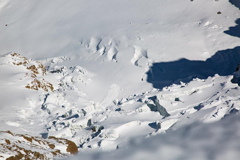 Blick auf die Gletscher unterhalb des Breithorns - © Skiinfo