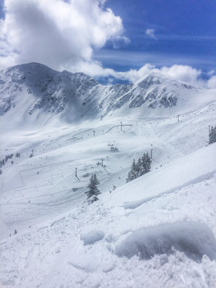 Arapahoe Basin Ski Area - Incredible powder day May 19th. Thigh deep in sections of the east wall. You had the be there, everything in bounds including the hikes are fully tracked out.  - © iPhone