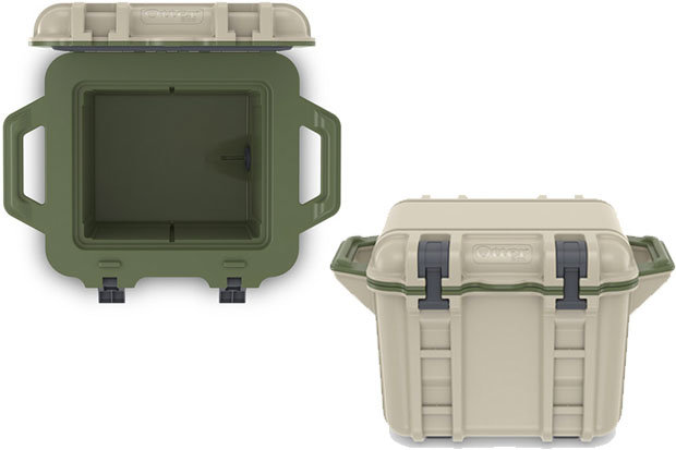 OtterBox Venture 25 Cooler: $249.99 Perfect for a day trip into the mountains, the Venture 25 Cooler is adept at securing refreshments and snacks. Accessories, including a bottle opener, drybox, cup holder and side table can be mounted to the exterior rails. The Venture 25 holds 14 12-ounce cans.