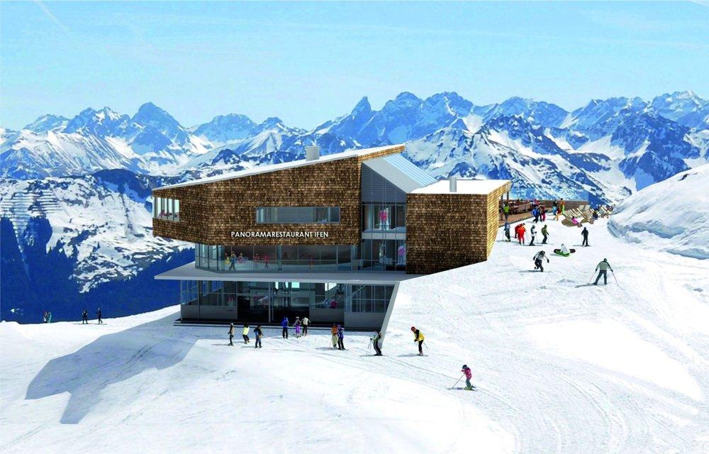 Die neue Bergstation am Ifen - © www.ok-bergbahnen.com