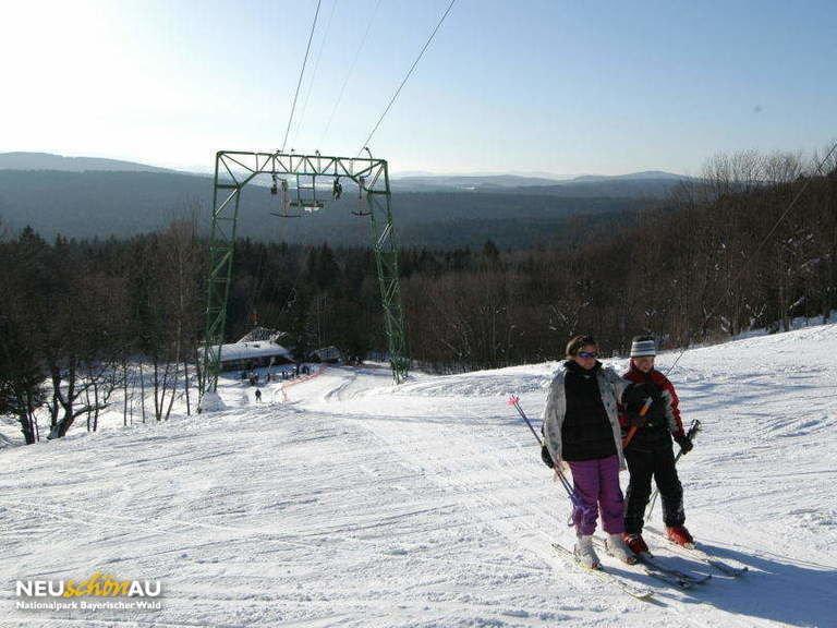 Skilift im Skigebiet Neuschönau Waldhäuser